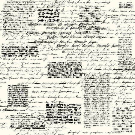 Illustration pour A Seamless background pattern. Imitation of a abstract vintage lettering. Unreadable text. - image libre de droit