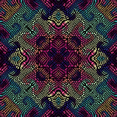 Illustration pour Seamless background pattern. Unusual curved mosaic pattern. Vector image. - image libre de droit
