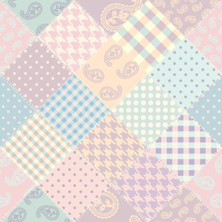 Illustration pour Seamless background pattern. Patchwork pattern. Vector image - image libre de droit