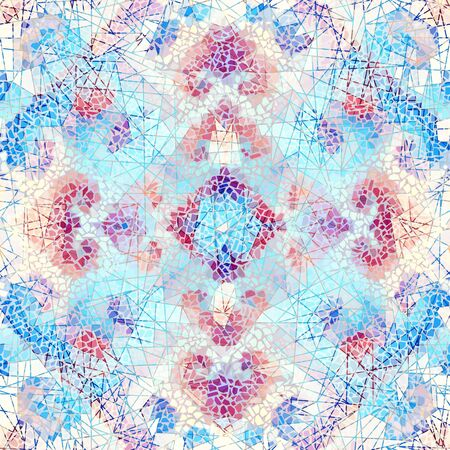 Illustration for Seamless mosaic art pattern. Abstract art background. - Royalty Free Image