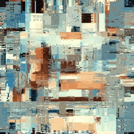 Illustration pour Abstract seamless pattern with imitation of a grunge dirty texture. Vector image. - image libre de droit