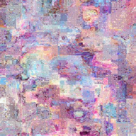 Illustration pour Vector image with imitation of grunge datamoshing texture. - image libre de droit
