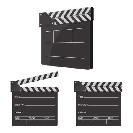 Illustration for Director clapboard vector design illustration isolated on white background - Royalty Free Image