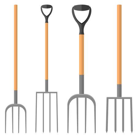 Illustration pour Pitchfork vector design illustration isolated on white background - image libre de droit