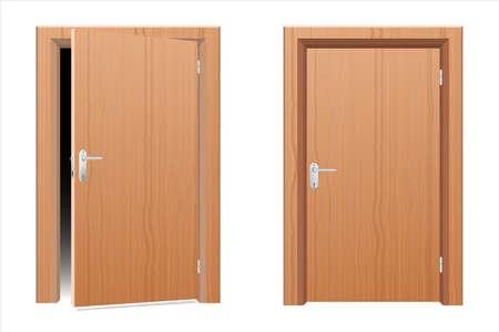 Illustration pour Wooden modern door vector design illustration isolated on white background - image libre de droit