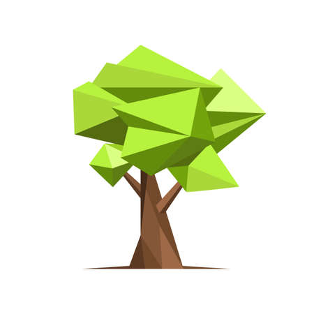 Illustration for Abstract style tree vector design illustration isolated on white background - Royalty Free Image