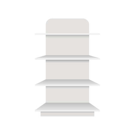 Illustration pour Shelf mockup vector design illustration isolated on white background - image libre de droit