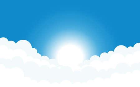 Illustration pour Sky and clouds background vector design illustration - image libre de droit
