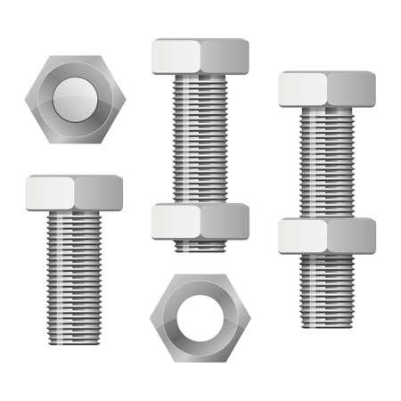 Illustration pour Hex bolt vector design illustration isolated on white background - image libre de droit