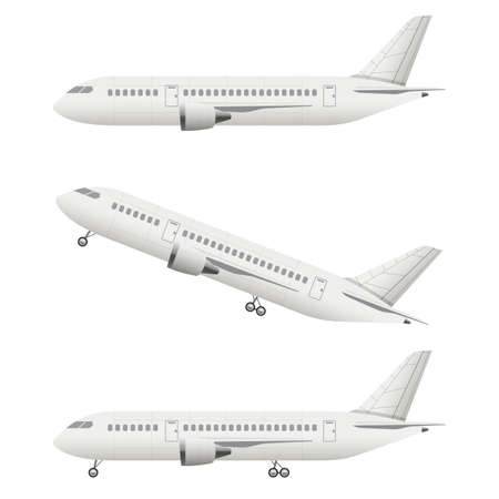 Illustration for Realistic airplane vector design illustration isolated on white background - Royalty Free Image