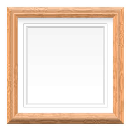 Illustration pour Wooden picture frame vector design illustration isolated on white background - image libre de droit