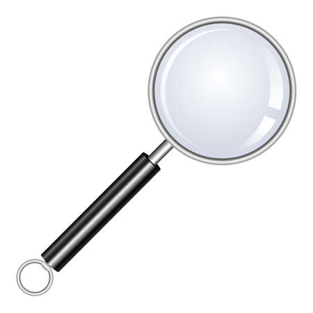 Illustration pour Magnifying glass vector design illustration isolated on white background - image libre de droit