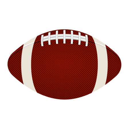Illustration for American football ball vector design illustration isolated on white background - Royalty Free Image