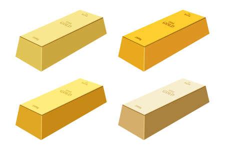 Illustration for Gold bar vector design illustration isolated on white background - Royalty Free Image