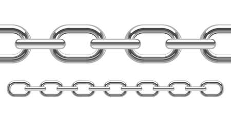 Illustration for Metallic chain vector design illustration isolated on white background - Royalty Free Image