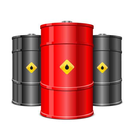 Illustration pour Oil barrel vector design illustration isolated on white background - image libre de droit