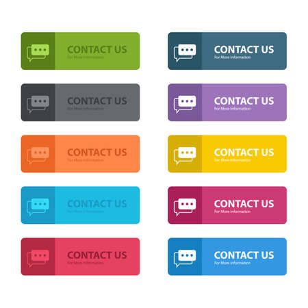 Illustration pour Contact us button vector design illustration isolated on white background - image libre de droit