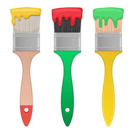 Illustration for Paint brush vector design illustration isolated on white background - Royalty Free Image