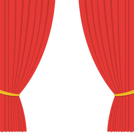 Illustration for Theater curtain vector design illustration - Royalty Free Image