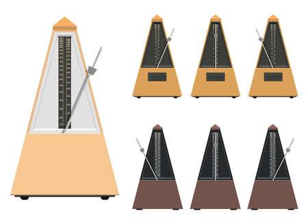 Illustration pour Metronome vector design illustration isolated on white background - image libre de droit