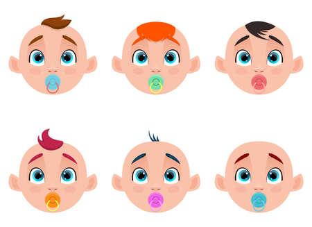 Photo pour Cute baby vector design illustration isolated on white background - image libre de droit