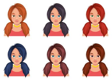 Illustration pour Woman face vector design illustration isolated on white background - image libre de droit