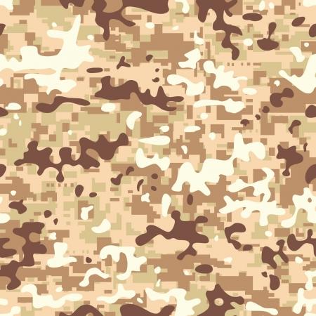 Modern seamless digital desert camo background pattern