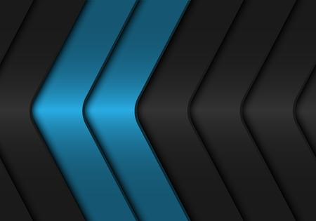 Illustration for Abstract blue dark grey arrow metallic design modern futuristic background vector illustration. - Royalty Free Image