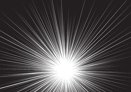 Illustration pour Radial zoom speed black line on white for comic background vector illustration. - image libre de droit