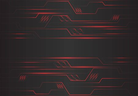 Ilustración de Abstract red circuit polygon geometric light lines power energy on black design modern futuristic technology background vector illustration. - Imagen libre de derechos