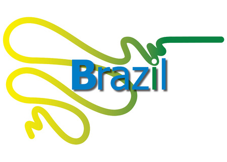 Foto per Logo Brazil - Immagine Royalty Free