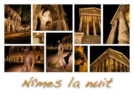 Night Nîmes, France