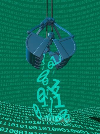 Illustration depicting data mining of computer information