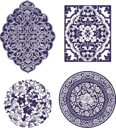 oriental flower design