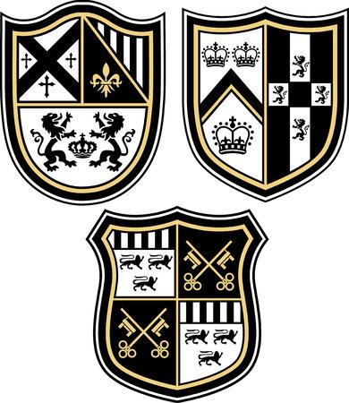 Ilustración de Heraldic emblem badge shield - Imagen libre de derechos