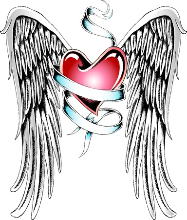 angel heart tattoo