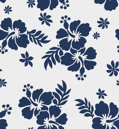 Illustration pour seamless hibiscus flower pattern - image libre de droit