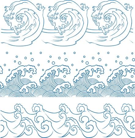 ocean wave repeated pattern