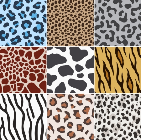 seamless animal skin fabric pattern texture のイラスト素材