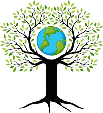 eco friendly green Earth tree