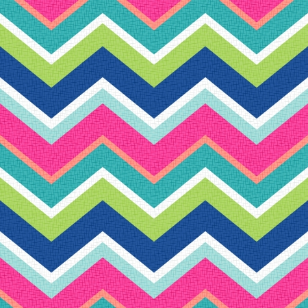 Illustration for seamless retro zig zag pattern  - Royalty Free Image