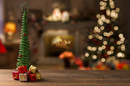 Foto de christmas decoration background. Christmas Blurry - Imagen libre de derechos