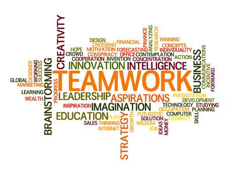 Ilustración de Teamwork idea Word Cloud Concept - Imagen libre de derechos