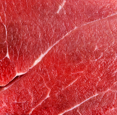 Raw red beef meat macro texture or background