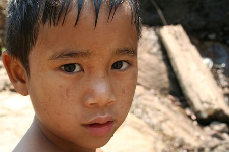 Portrait of young asian boy