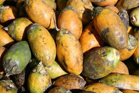 beetlenuts on display at market, south india