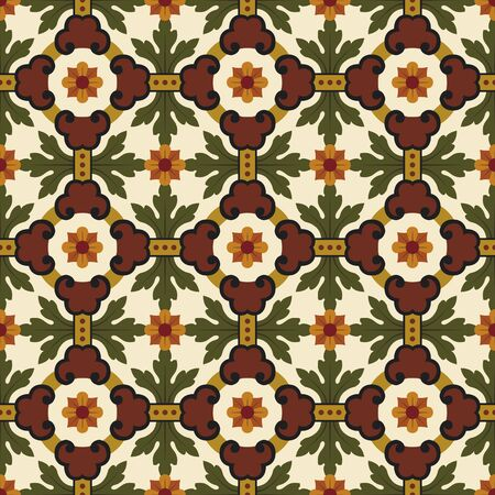 classic vintage seamless pattern in editable file