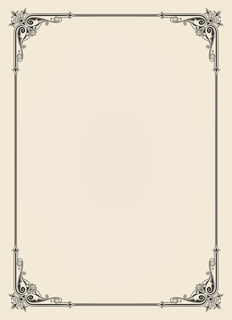 ornamental  frame vintage in editable vector file