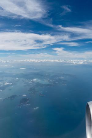 Photo pour Aerial view from above Hong Kong - image libre de droit