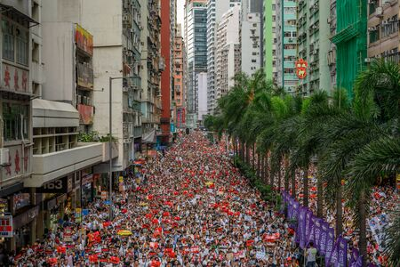 Photo for HONG KONG - June 9, 2019: Hong Kong June 9 protect with million of people on the street. - Royalty Free Image